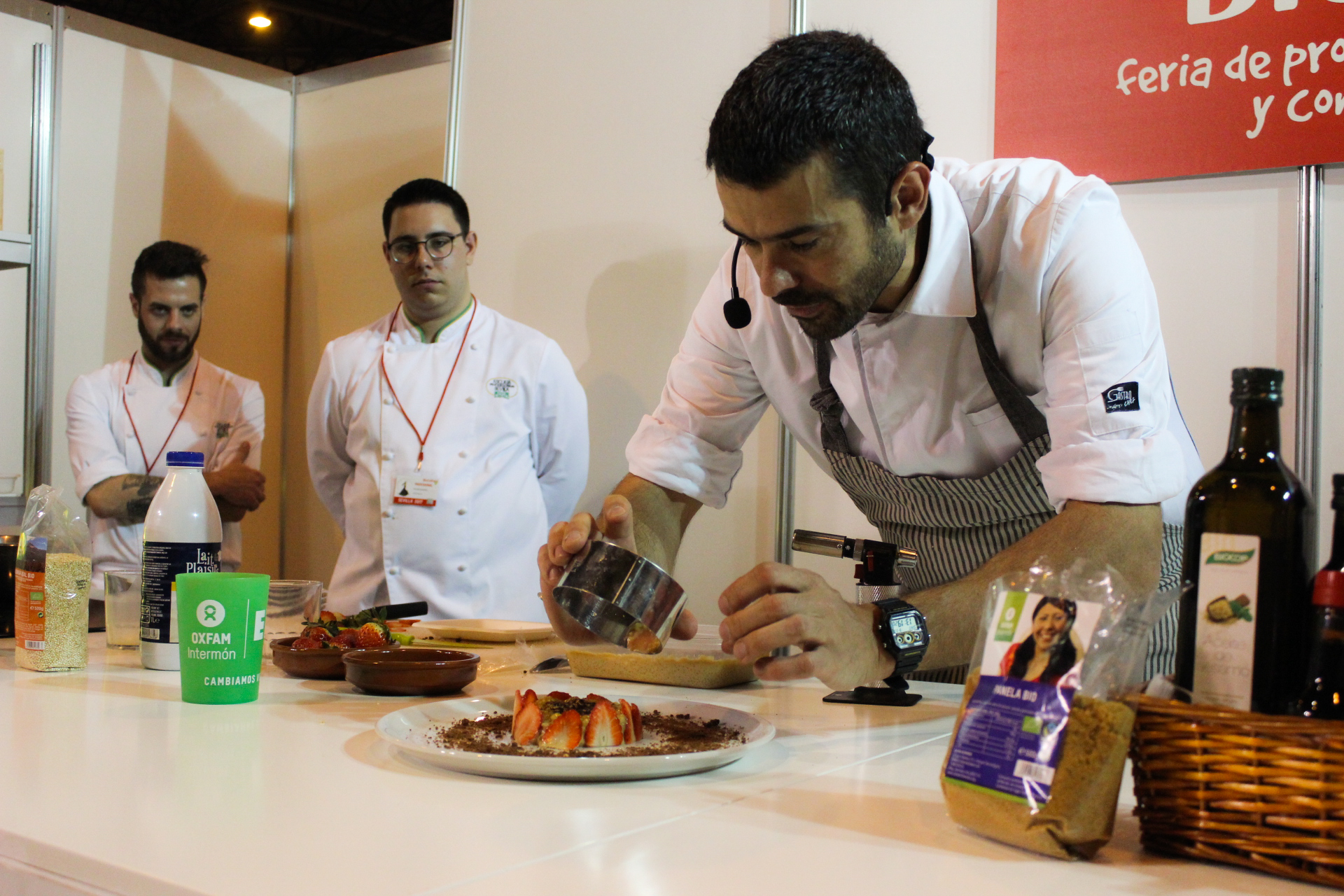 Enrique Chef en el showcooking de BioCultura Sevilla