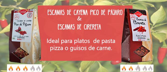 ESCAMAS PICANTES CAYENA PICO PAJARO & CIRERETA
