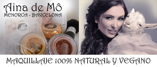 MAQUILLAJE 100% NATURAL-VEGANO, GLUTEN FREE, SALUDABLE, WATERPROOF Y MADE IN BCN